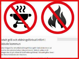 Tydliga symboler på Skövde Kommuns hemsida för att alla ska uppfatta budskapet.