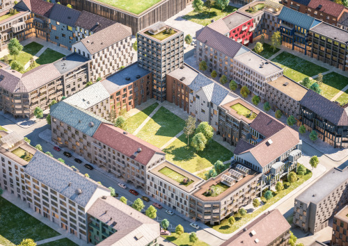Mariesjö typkvarter ur ett flygperspektiv