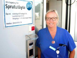 Skaraborgs Sjukhus i Skövde. Sjuksköterska Annika Seidevall.