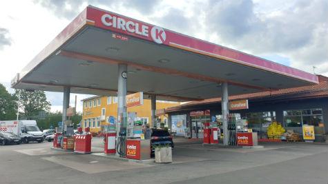 Circle K vid Hallenbergsrondellen, Skövde