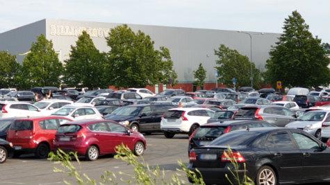 Skövde bilar parkering Billingehov
