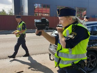 Hastighetskontroll, Gustav Adolfs gata, Skövde
