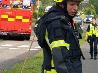 Trafikolycka mellan Mörkekorset och Boulognersjön