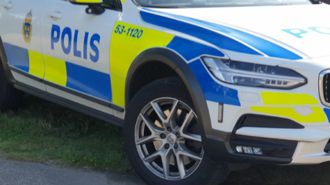Polisbil i Skövde