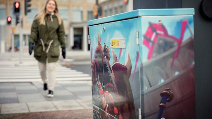 Dataspelskaraktärer pryder elskåp i Skövde - Skövde city news