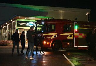 Brandlarm, Ten Lanes på Norrmalm i Skövde
