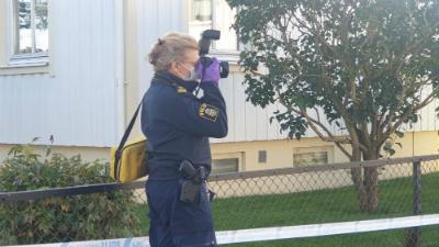 Skövde skottlossning Norrmalm Polis tekniker - Skövde city news