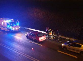 Trafikolycka på Östra leden i Skövde
