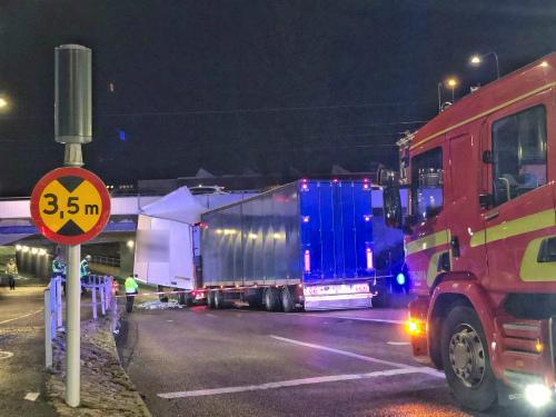 Lastbilsolycka Pentaporten Skövde