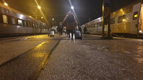 Tågperrong på Skövde Resecentrum
