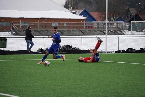 Edin Salihovic gav IFK Skövde ledningen med 1-0.