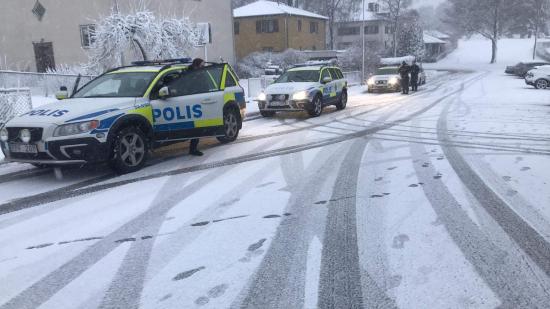 Knarkrazzia vid Gymnasium Skövde Västerhöjd.
