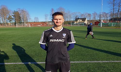 Edin Salihovic gjorde bägge målen i IFK Skövdes seger.
