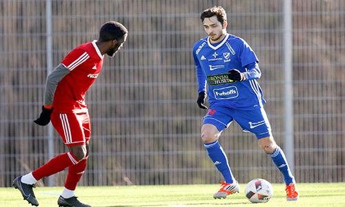 Armend Suljev stod för ett av målen i IFK Skövdes seger över Vretstorp. Foto: Viktor Ljungström