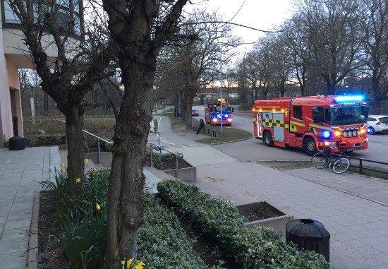 Brandlarm, räddningstjänst SLA-huset Skövde