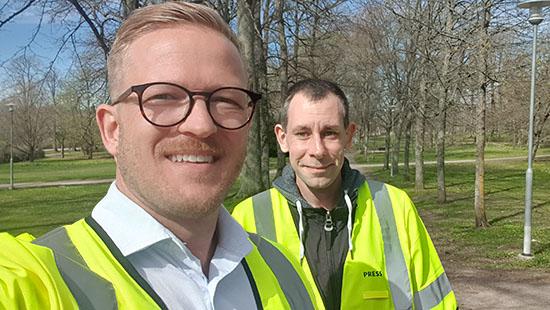 Roderick Hristov och Christian Svensson