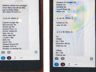 smuggelspritsförsäljning sms-konversation